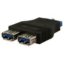 USB 3.0 20 Pin Header to 2 x USB 3.0 Ports Adaptor